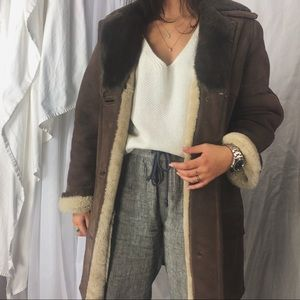 VINTAGE/ plush shearling coat